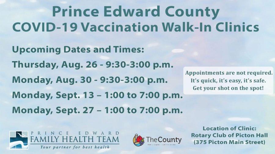 Walk-in COVID-19 Vaccination Clinic