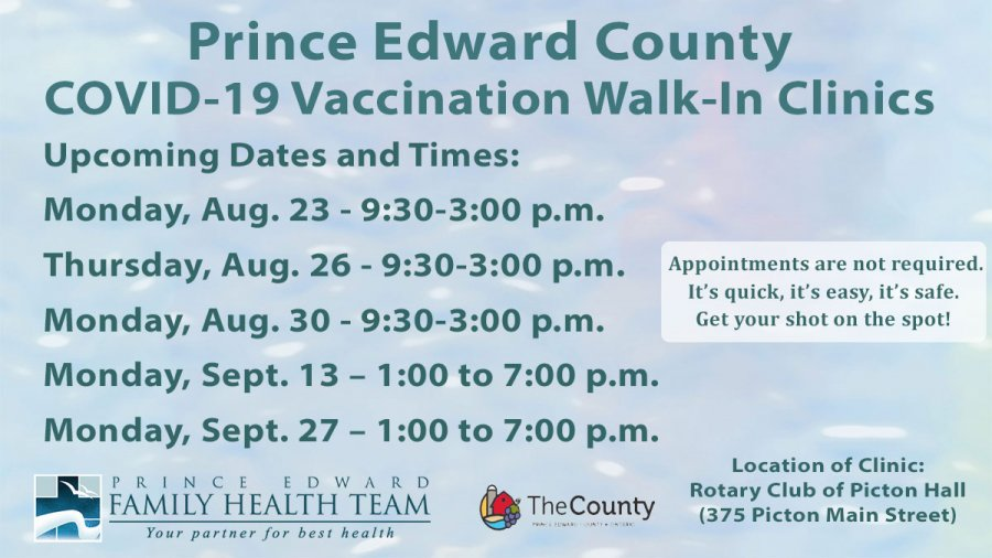 Walk-in Clinic for COVID-19 Vaccination